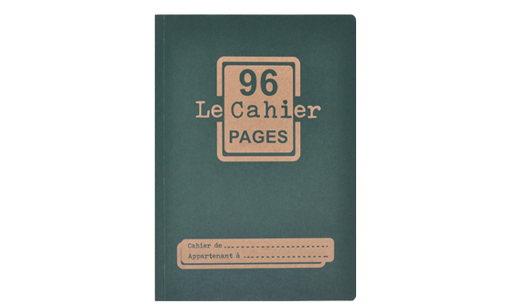 CAHIER GRAND BLEU FACE SITE