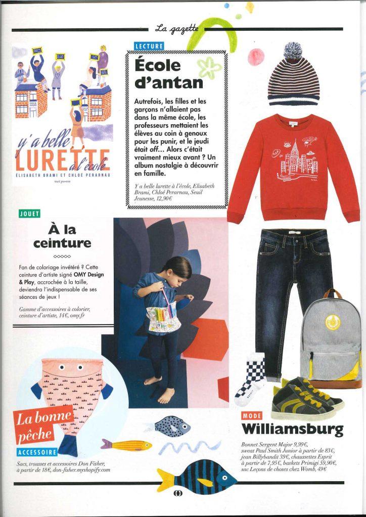 le sac à dos leçons de choses dans le magazine doolitle
