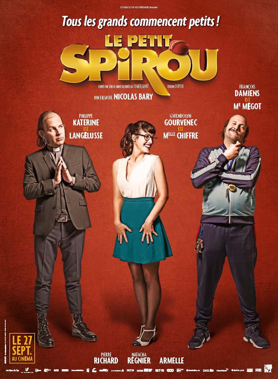Les cartables et étagères leçons de choses dans le film du Petit Spirou